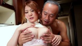 恵体メイド、仁科百華、キモいオヤジたちの慰みものとして性奴隷と化す!